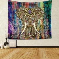 Holy Elephant Tapestry Wall Decorations Fashion Boho Prints Tapestry Home Decor 130x150cm 153x203cm
