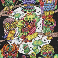 Cross Stitch Kit Prism Owl By TanDoll - Needlecraft Kit