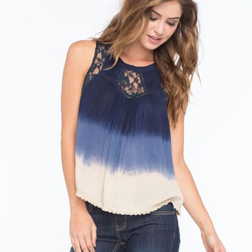 PATRONS OF PEACE Lace Ombre Womens Top | Patrons of Peace