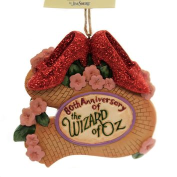 Jim Shore RUBY SLIPPERS 80TH ANNIVERSARY Polyresin Wizard Of Oz 6005083