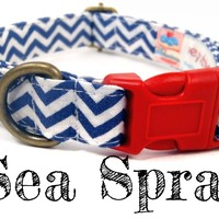 Sea Spray – Organic Cotton Dog Collar