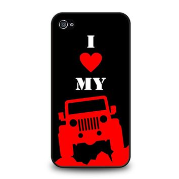 I LOVE MY JEEP iPhone 4 / 4S Case
