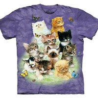 The Mountain 10 Kittens Adult T-shirt S
