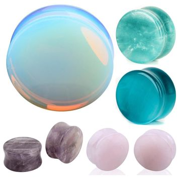 Ear Expander 1 Pair of Opalite Stone Plugs