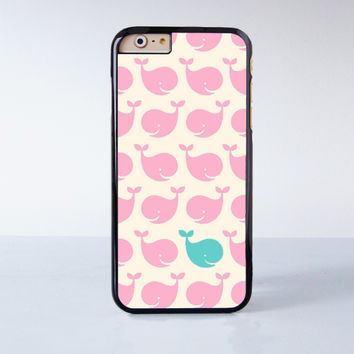 Pink Whale Plastic Case Cover for Apple iPhone 6 6 Plus 4 4s 5 5s 5c