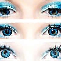 EOS Barbiedoll Blue Circle Lenses Colored Contacts Cosmetic Color Circle Lens | EyeCandy's
