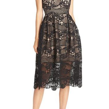 Elliatt 'In the Air' Lace Fit & Flare Dress | Nordstrom