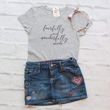 Fearfully and Wonderfully Made Girls Shirt