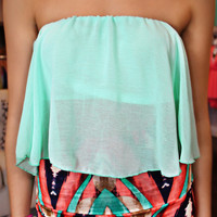 Summer Breeze Crop Top - Mint