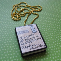 Perks of Being a Wallflower book necklace