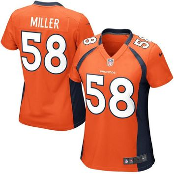 Girls Youth Denver Broncos Von Miller Nike Orange Game Jersey