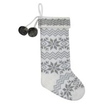 Cream Knit Snowflake Fair Isle Christmas Stocking - Wondershop™