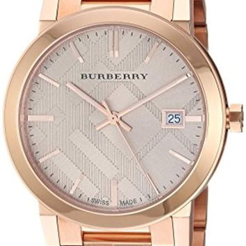 Burberry Rose Gold-Tone Dial Stainless Steel Quartz Ladies Watch BU9039