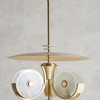 Brass Camber Chandelier
