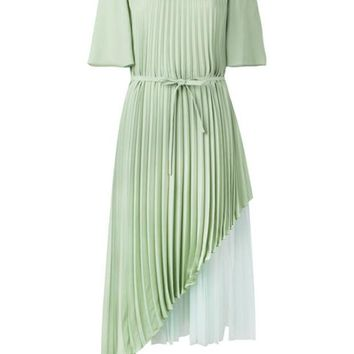 DCCKIN3 Christopher Kane Pleated Layered Dress