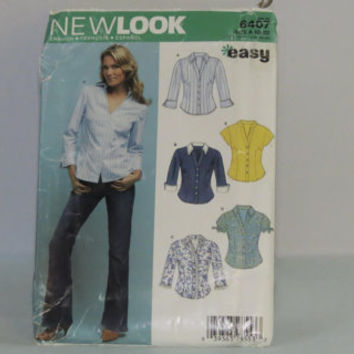 Vintage Simplicity New Look sewing pattern 6407 size 10-22 women's shirt made 2004