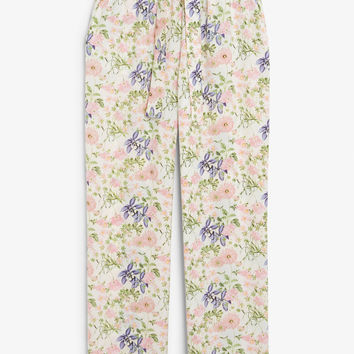 Flowy trousers - Pastel meadow - Trousers & shorts - Monki GB