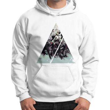 DCCKHD9 Geometric Conversation Gildan Hoodie (on man)