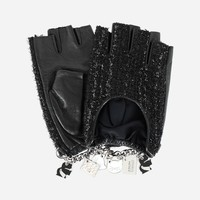 ‎K/Charm Tweed Gloves ‎ - Karl Lagerfeld