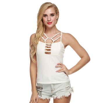 Strappy Cut-Out Tank Top