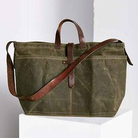 Peg And Awl Large Waxed Canvas Tote Bag-