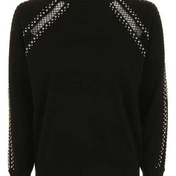 Lattice Stud Jumper - Sweaters & Knits - Clothing