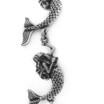 Linked Metal Mermaid Bracelet