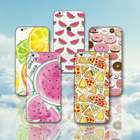 Soft TPU Phone Cases for Iphone 6 6s 6 Plus 6s 7 Plus 5 5s SE Fashion Banana Lemon Donut Watermelon Phone Covers for Iphone 6