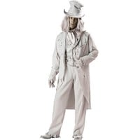 Ghostly Gent Elite Collection Costume - Adult (Grey)