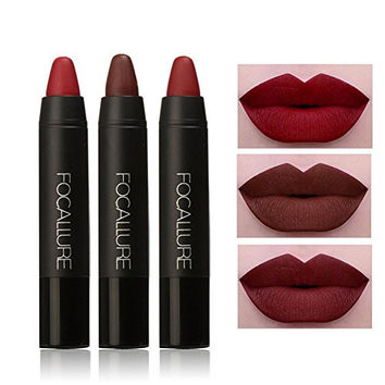 Gracefulvara 3Pcs/Set Waterproof Long Lasting Matte Lip Gloss Lipstick Cosmetic,Kit 1