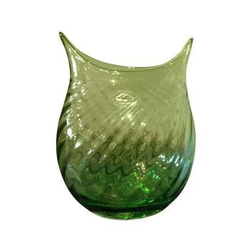 Pre-owned Blenko Glass Spring Green Vase
