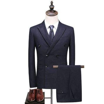 Mens Double-Breasted Suit