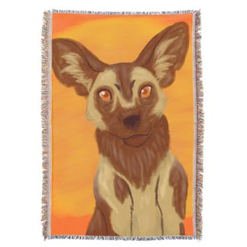 African Wild Dog Throw