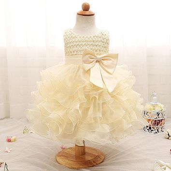 Newborn Baby Dresses For Birthday Outfits Baby Girl Dress Lace Gown Infant Kids Wedding Dress