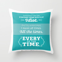 The Office Kevin Malone Quote Season 8 Episode 22 - Every of the Time - Teal and White Throw Pillow by Noonday Design