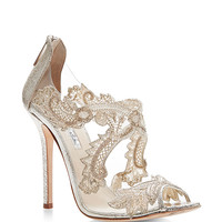 Ambria Metallic Leather Lace Sandals