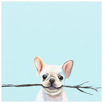 Best Friend - Frenchie Fetch Wall Art