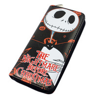 Nightmare Before Christmas Large Zip Around Wallet