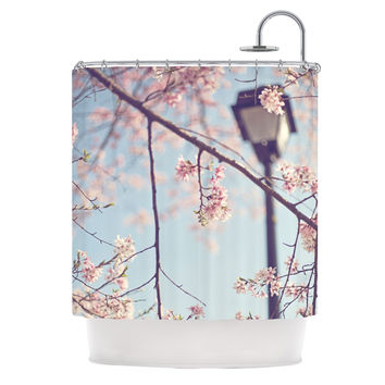 "Catherine McDonald ""Walk with Me"" Cherry Blossom Shower Curtain"