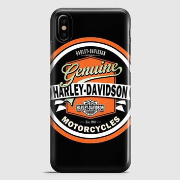 Harley Davidson Motorcycles Typography Art iPhone X Case