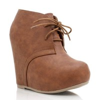 oxford-wedges BLACK CHESTNUT TAUPE - GoJane.com