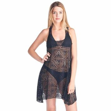 Women's T-Back Cover Up Beach Dress Swimwear Made in the USA
