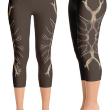 ELK antlers leggings (black or brown) capri or full length