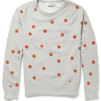 Acne Studios - College Dot Printed Cotton-Jersey Sweatshirt | MR PORTER