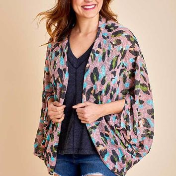 B-Tween Animal Print Cardigan