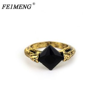 Lord Voldemort's Horcrux Ring The Resurrection Stone Marvolo Gaunt Vintage Deathly Hallows Dumbledore Rings For Women Men Anel