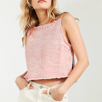 Silence + Noise Sabby Frayed Hem Top | Urban Outfitters