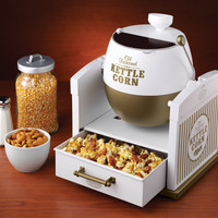 Kettle Corn Popcorn Popper Machine ~ Mini Countertop Sweet Popped Korn Maker