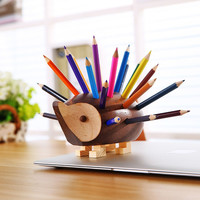 Creative Hedgehog Pen Pencil Holder Desk Organizer Accessories