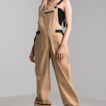 I.AM.GIA Cobain Overalls in Tan